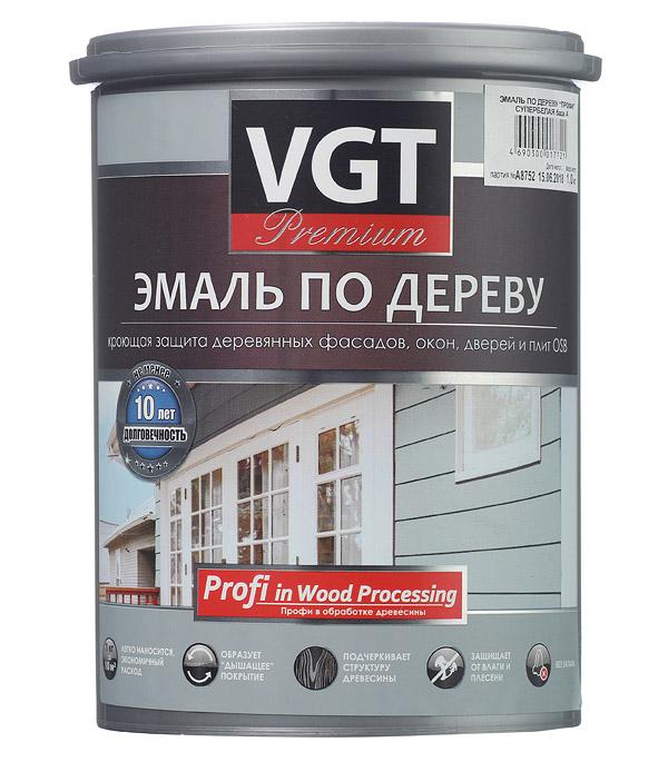 Эмаль акриловая по дереву VGT Профи белая основа А 1 кг