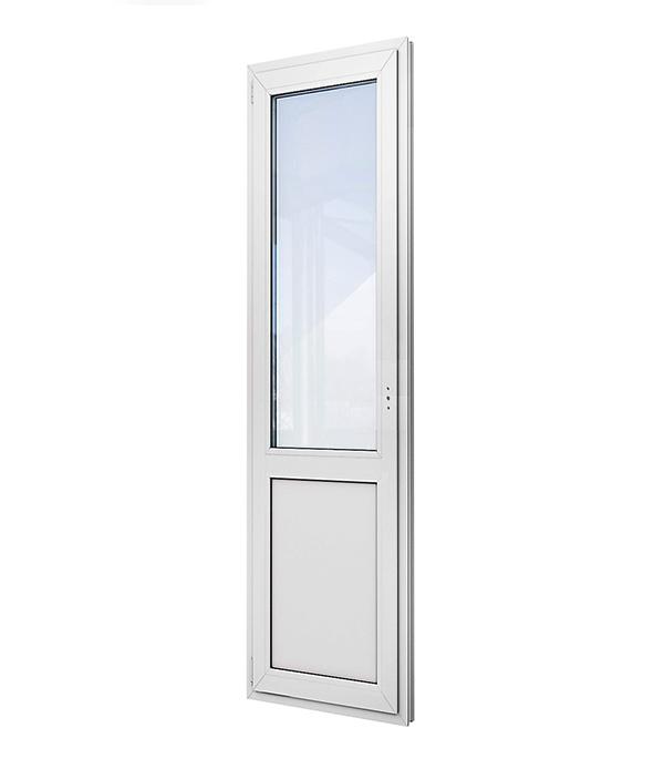Дверь пластиковая VEKA 2140х680 мм поворотно-откидная левая стеклопакет энергосберегающий верх и ПВХ низ