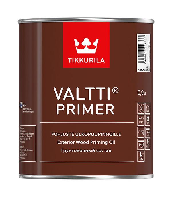 Антисептик Tikkurila Valtti Primer грунтовочный для дерева бесцветный 0,9 л