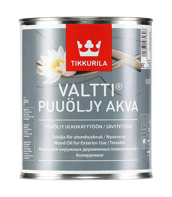 Масло Tikkurila Valtti Puuoljy Akva для наружных деревянных поверхностей основа EC 0,9 л