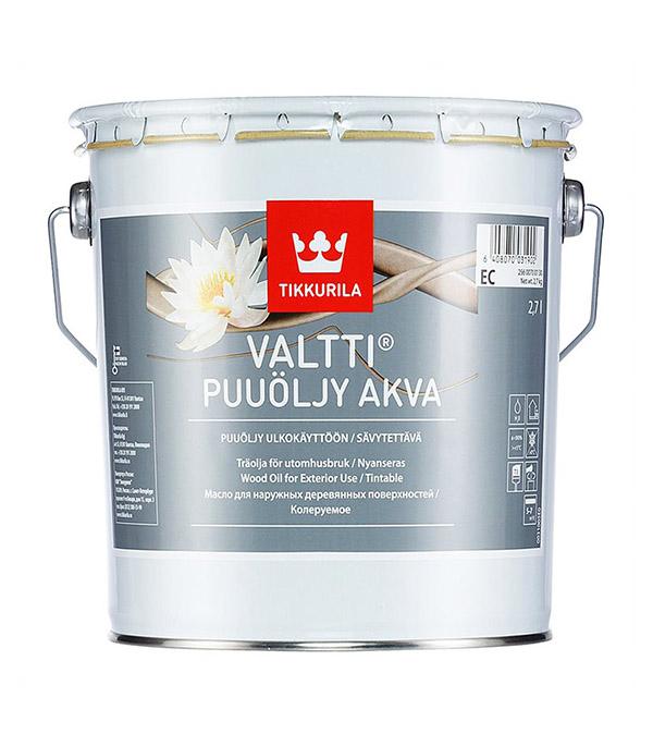 Масло Tikkurila Valtti Puuoljy Akva для наружных деревянных поверхностей основа EC 2,7 л