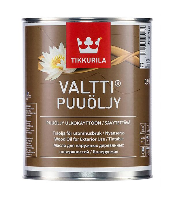 Масло Tikkurila Valtti Puuoljy для наружных деревянных поверхностей основа EC 0,9 л
