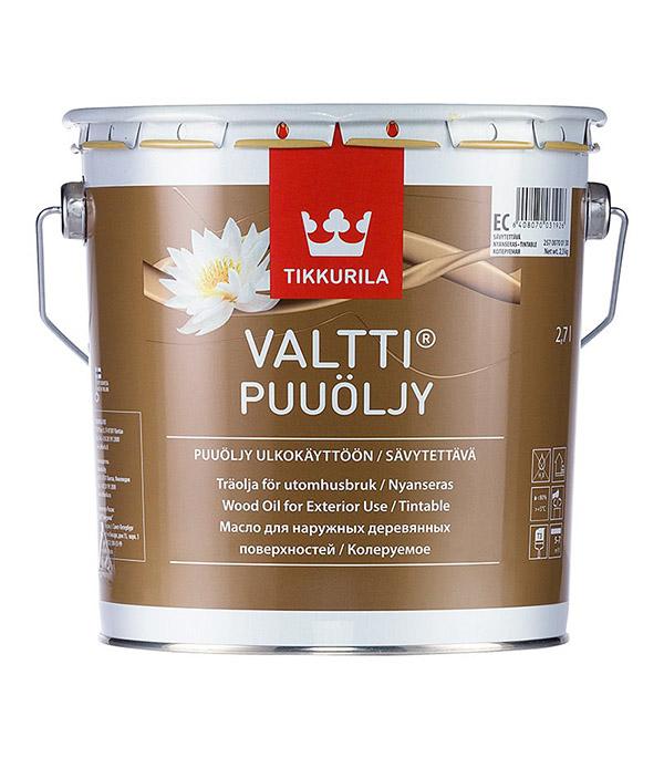Масло Tikkurila Valtti Puuoljy для наружных деревянных поверхностей основа EC 2,7 л