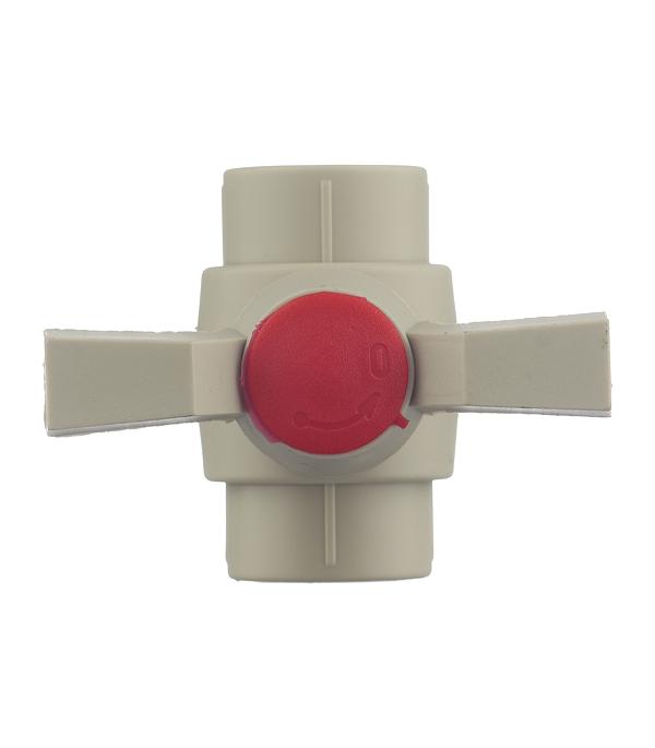 Кран полипропиленовый шаровый 20 мм FV-PLAST серый фото