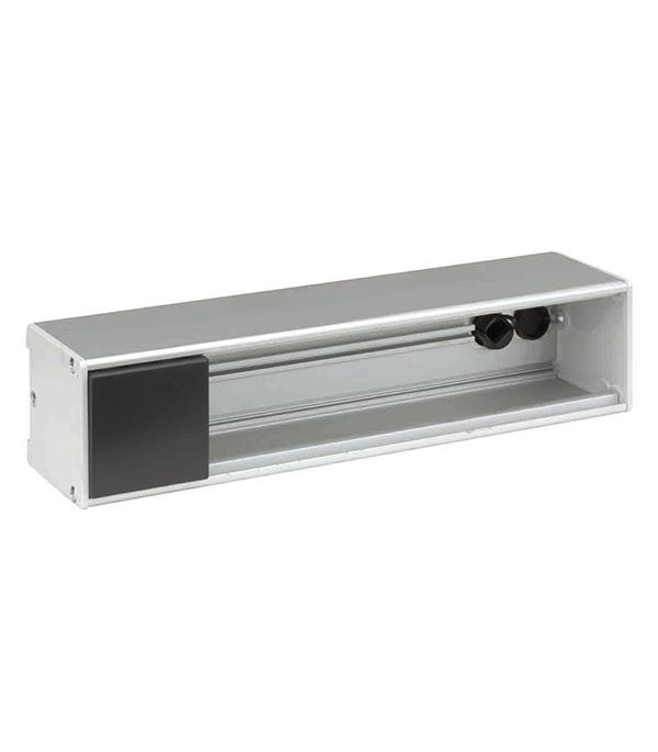 Фото - Блок розеточный офисный Simon Connect KFC134-14 алюминий для 4 механизмов стандарт К45 мультимедия