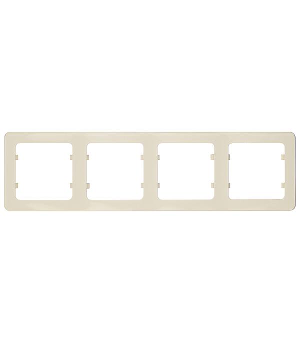 Рамка четырехместная Hegel Master слоновая кость рамка для розеток и выключателей lk60 3 поста чёрный бархат