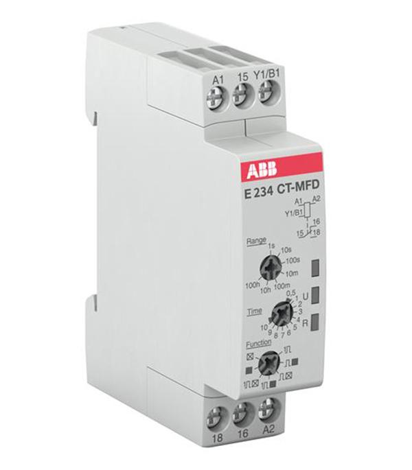 Реле времени модульное ABB CT-MFD.12 (1SVR500020R0000) 240 В 6 А тип AC/DС 7 функций фото