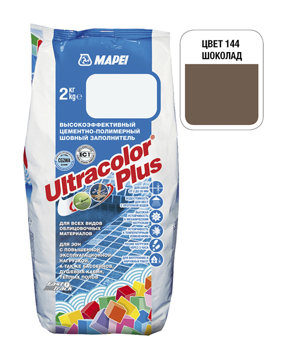 Фото «Затирка MAPEI ULTRACOLOR PLUS № 144 шоколад 2 кг» в Санкт-Петербурге