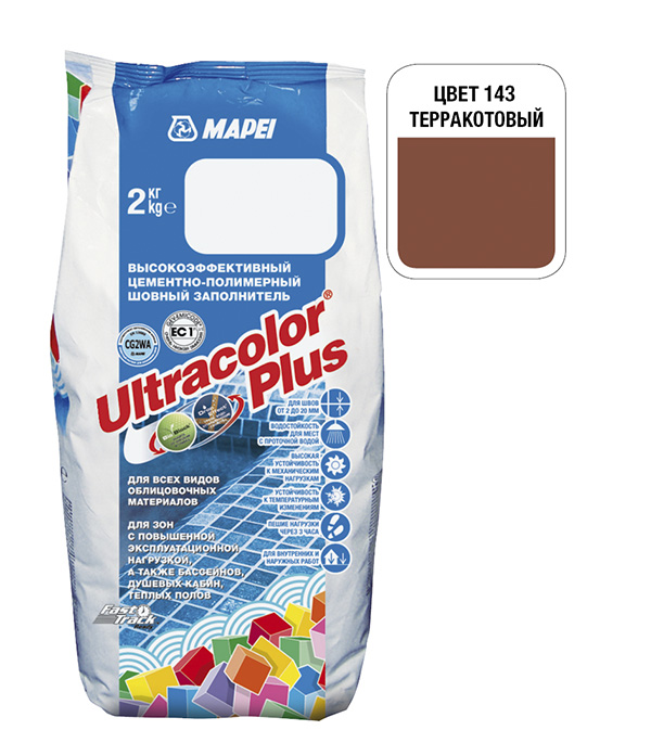 Затирка Mapei Ultracolor Plus 143 терракоттовая 2 кг