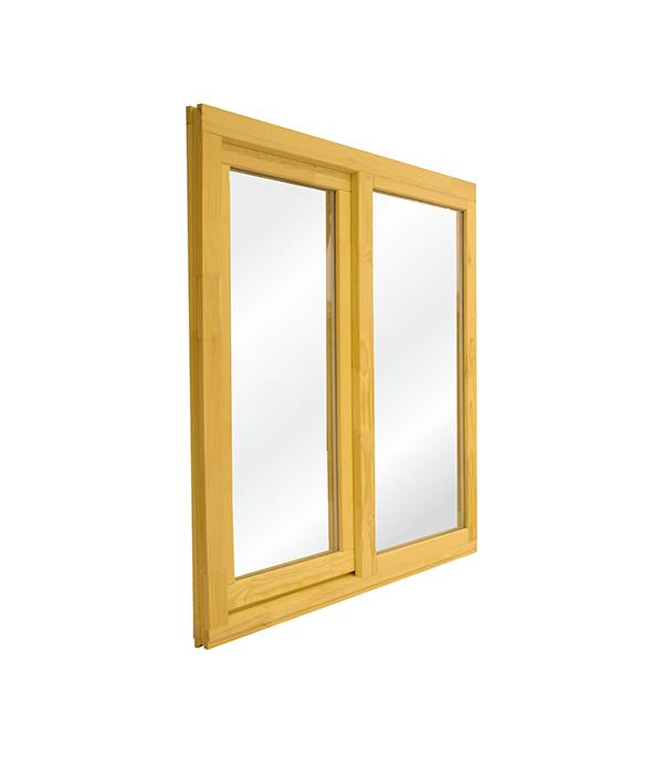 Окно деревянное 1160х1170х45 мм 2 створки левая глухая, правая поворотная окно деревянное 1000х1000 мм 2 створки