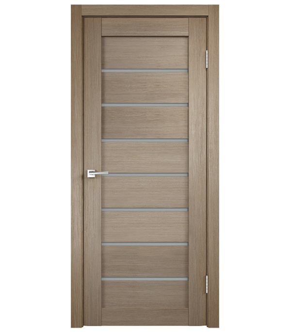 Фото - Дверное полотно VellDoris INTERI 11 бруно со стеклом ламинированная финишпленка 700x2000 мм дверное полотно velldoris interi 10 лиственница белая глухое ламинированная финишпленка 700x2000 мм