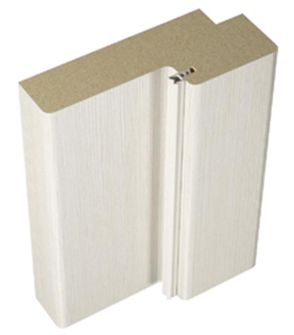 Фото - Коробка дверная VellDoris INTERI 11 ламинированная финишпленка лиственница белая 28х70х2100 мм (2,5 шт.) дверное полотно velldoris interi 10 лиственница белая глухое ламинированная финишпленка 700x2000 мм
