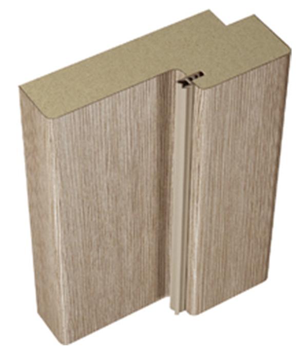 Фото - Коробка дверная VellDoris INTERI 11 ламинированная финишпленка бруно 28х70х2100 мм (2,5 шт.) дверное полотно velldoris interi 10 лиственница белая глухое ламинированная финишпленка 700x2000 мм