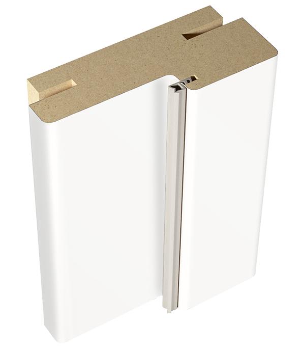 Коробка дверная VellDoris Ольсен экошпон белый эмалит телескопическая 30х74х2100 мм (2,5 шт.) коробка дверная velldoris vision экошпон капучино 30х74х2100 мм 2 5 шт