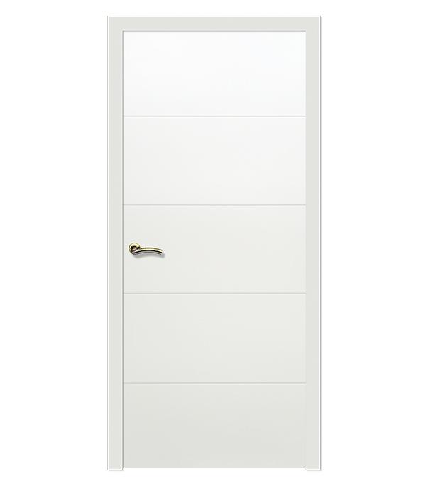 Дверное полотно РЖЕВДОРС 603 белая эмаль глухое шпон дуба 600x2000 мм сотовый
