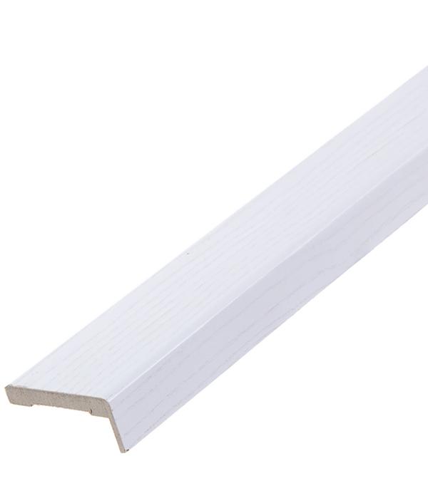 Наличник прямой РЖЕВДОРС 603 телескопический шпон дуб белая эмаль 70х33х2150 мм (5 шт.)