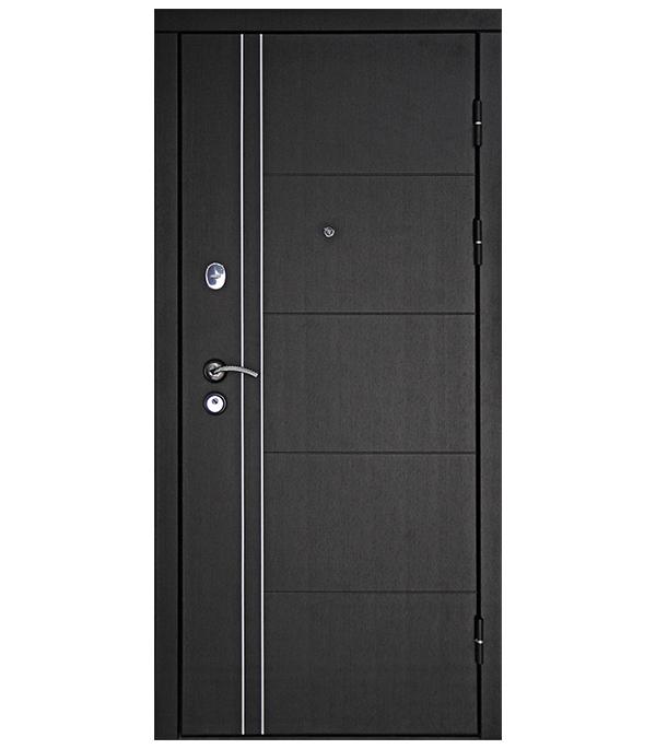 Дверь входная Дверной континент Теплолюкс левая венге - беленый дуб 960х2050 мм