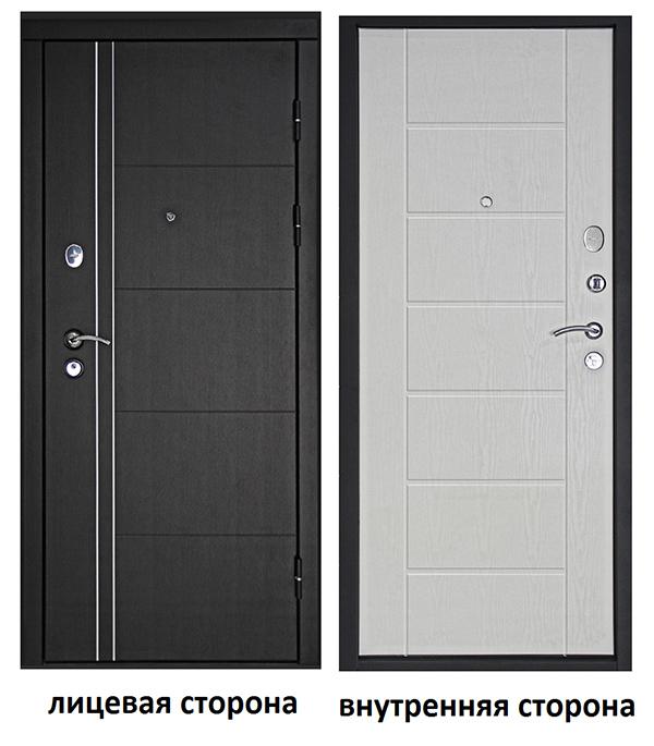 Дверь входная Дверной континент Теплолюкс правая венге - беленый дуб 960х2050 мм