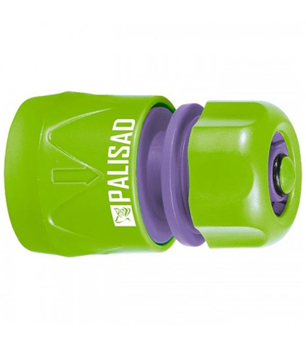 Фото - Соединитель пластмассовый быстросъемный PALISAD  для шланга 1/2 аквастоп соединитель для полива palisad латунный быстросъемный аквастоп 66265