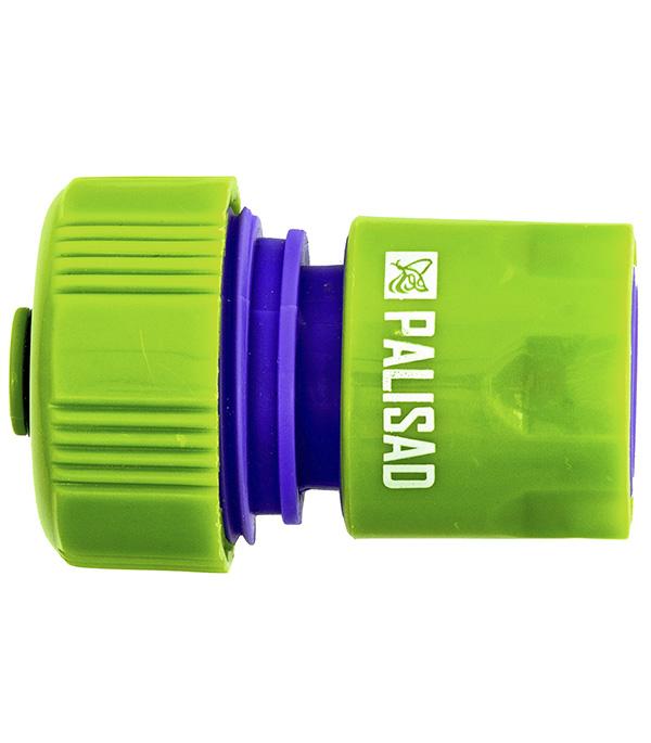 Фото - Соединитель пластмассовый быстросъемный PALISAD для шланга 3/4 аквастоп соединитель для полива palisad латунный быстросъемный аквастоп 66265