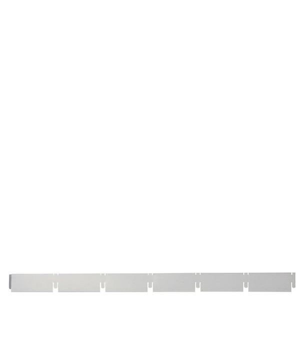 Направляющая рейка Грильято 100х100 мм 2.40 м серый металлик