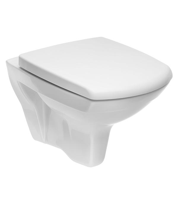 Унитаз подвесной CERSANIT Carina NEW Clean On безободковый с сиденьем дюропласт микролифт