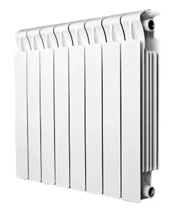 Радиатор биметаллический Rifar Monolit Ventil MVR 500 мм 8 секций 3/4 нижнее правое подключение белый биметаллический радиатор rifar рифар b 500 нп 10 сек лев кол во секций 10 мощность вт 2040 подключение левое