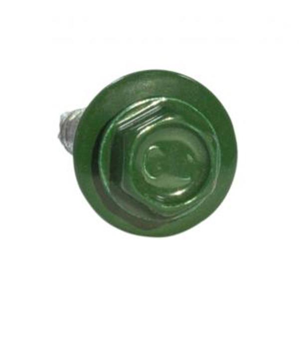 Саморезы кровельные с буром 70х4,8 мм зеленые RAL 6005 (100 шт) сталь Тайвань саморезы кровельные omax оцинкованные с буром 5 5x32 мм на вес