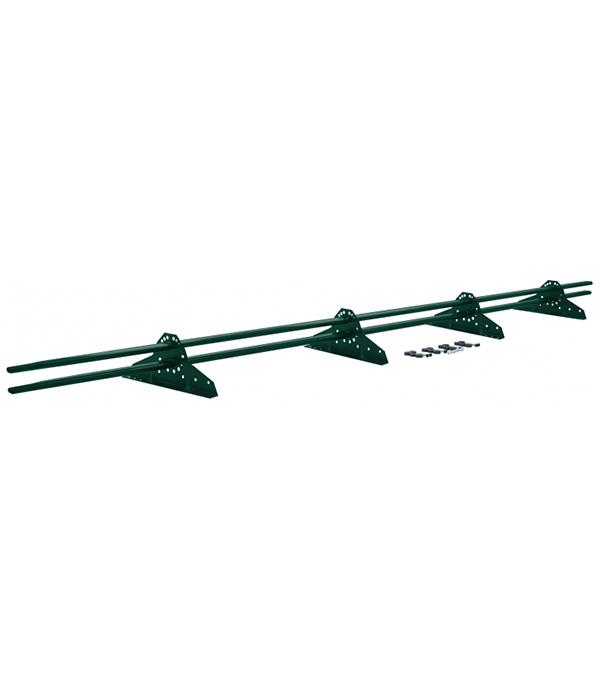 Фото - Снегозадержатель Grand Line трубчатый овальный 3 м зеленый  RAL 6005 кронштейн для крепления колючей проволоки l образный зеленый ral 6005 grand line