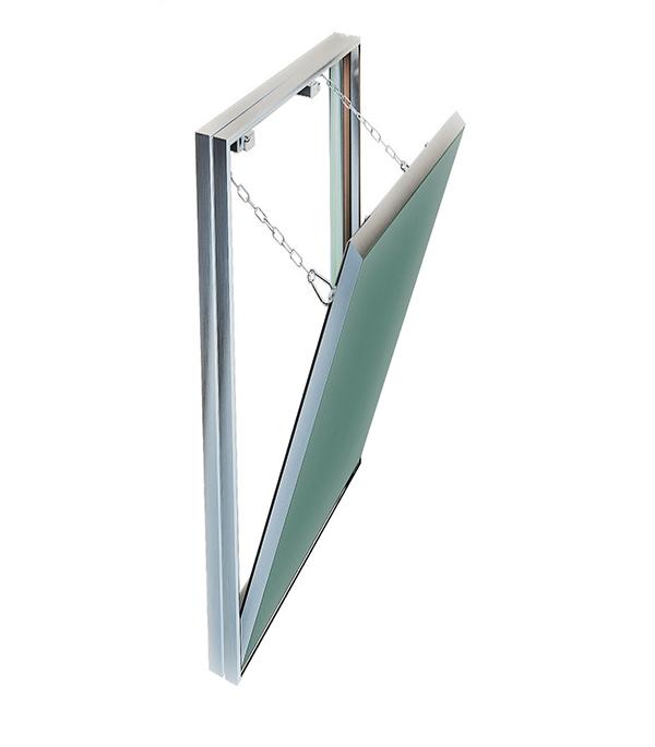 Люк ревизионный 300х600 мм под плитку алюминиевый Гиппократ-П Хаммер