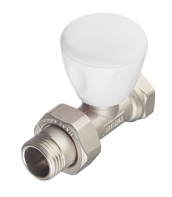 Клапан (вентиль) регулирующий ручной прямой Tiemme 1/2 НР(ш) х 1/2 ВР(г) для радиатора клапан вентиль запорный прямой tiemme 3 4 нр ш х 3 4 вр г для радиатора