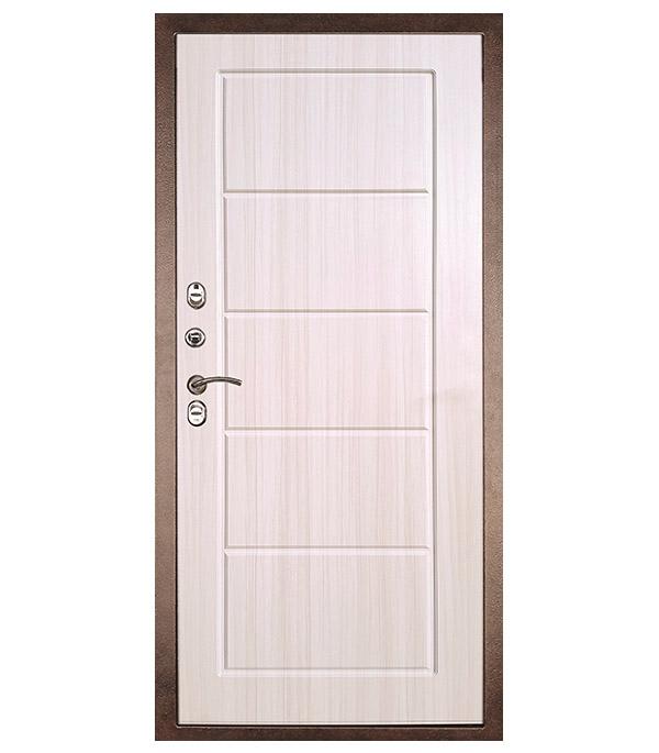 Дверь входная Дверной континент Термаль Экстра левая медный антик - лиственница белая 960х2050 мм