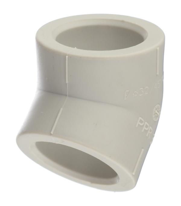 Угол полипропиленовый 32 мм, 45° FV-PLAST серый цены онлайн