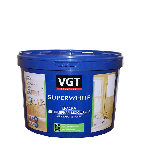 Краска водно-дисперсионная VGT моющаяся белая основа А 8,7 л/13 кг эмаль универсальная матовая основа c vgt 30 кг