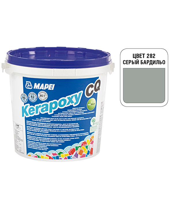 Затирка эпоксидная Mapei Kerapoxy CQ 282 Серый бардильо 3 кг