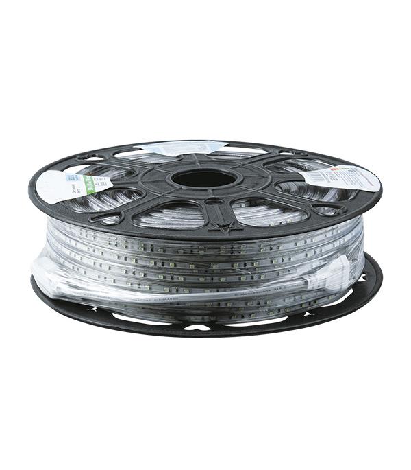 Лента светодиодная 4.8 Вт 3528 IP67 220В влагозащищенная холодный свет 1м цена