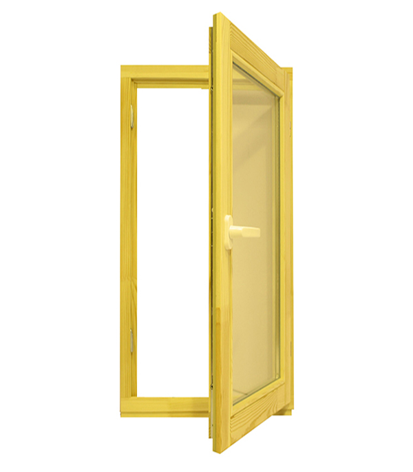 купить Окно деревянное 1160х570х45 мм 1 створка поворотная по цене 3830 рублей