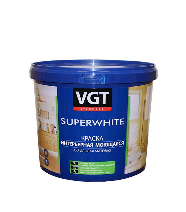 Краска водно-дисперсионная VGT моющаяся основа C 4,6 л/6 кг эмаль универсальная матовая основа c vgt 30 кг
