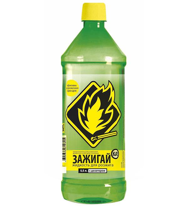 Жидкость для розжига Зажигай-ка 0.5 л жидкость для розжига gipfel 1 л