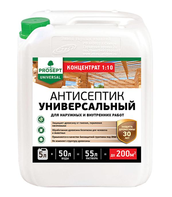 Антисептик Prosept Universal для внутр/ нар. работ для дерева биозащитный концентрат 1:10 5 л