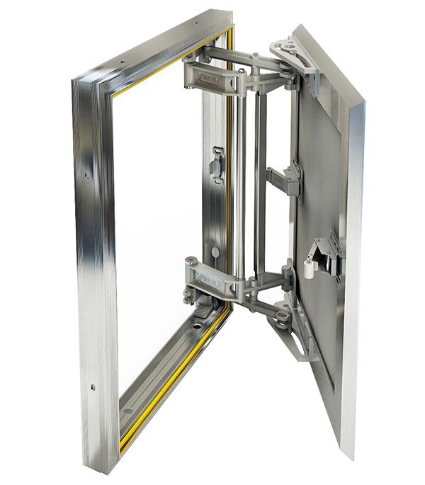 Люк ревизионный 300х400 мм под плитку алюминиевый Слава Хаммер