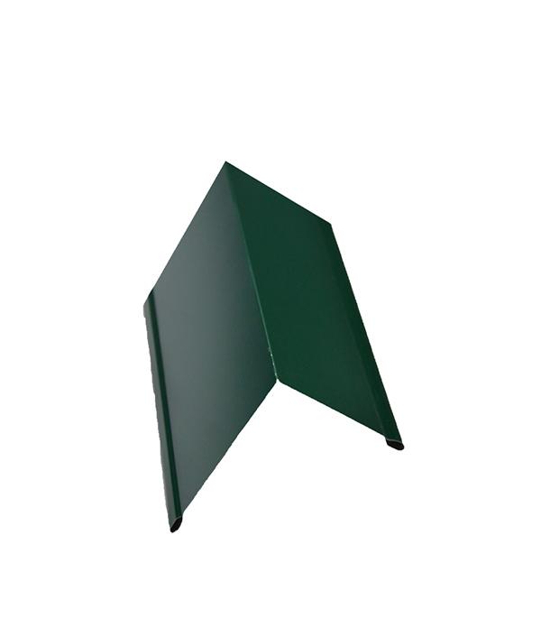 Фото - Планка торцевая для металлочерепицы 50х100 мм 2 м зеленая RAL 6005 кронштейн для крепления колючей проволоки l образный зеленый ral 6005 grand line
