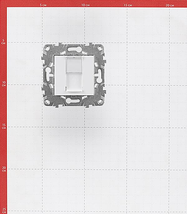 Розетка компьютерная Schneider Electric Unica NEW NU541118 скрытая установка белая один модуль RJ45 cat 5e фото