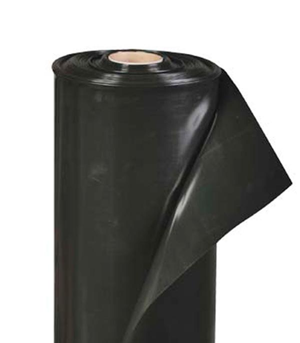 Пленка черная 120 мк 3 м рукав 1,5 м, пог.м. фото