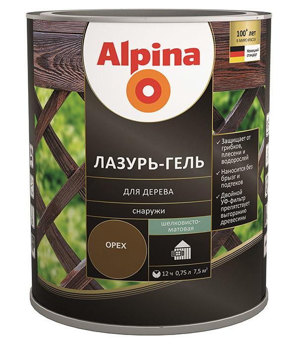 Антисептик Alpina Лазурь-гель декоративный для дерева махагон 0,75 л