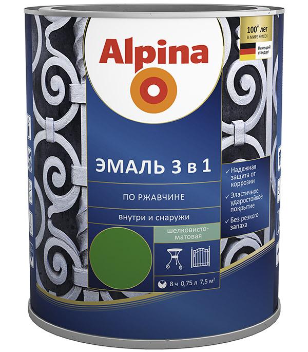 Эмаль по ржавчине Alpina черная RAL 9005 3в1 0,75 л стоимость