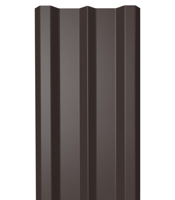 Евроштакетник односторонний 0,4 мм 100х1800 мм коричневый RAL 8017