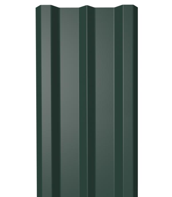 Евроштакетник односторонний 0,4 мм 100х2000 мм зеленый RAL 6005