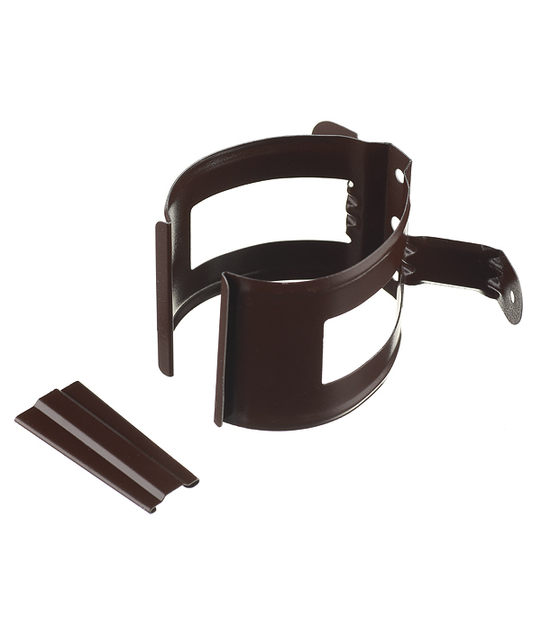 Кронштейн хомут труб Grand Line металлический на деревянную стену d90 мм коричневый RAL 8017 цена