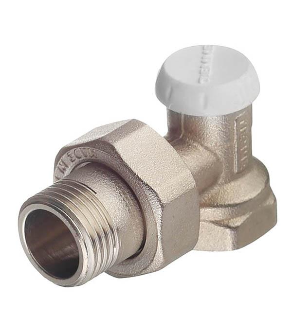 Клапан (вентиль) запорный угловой Tiemme (3230001) 1/2 НР(ш) х 1/2 ВР(г) для радиатора клапан вентиль запорный прямой tiemme 3 4 нр ш х 3 4 вр г для радиатора
